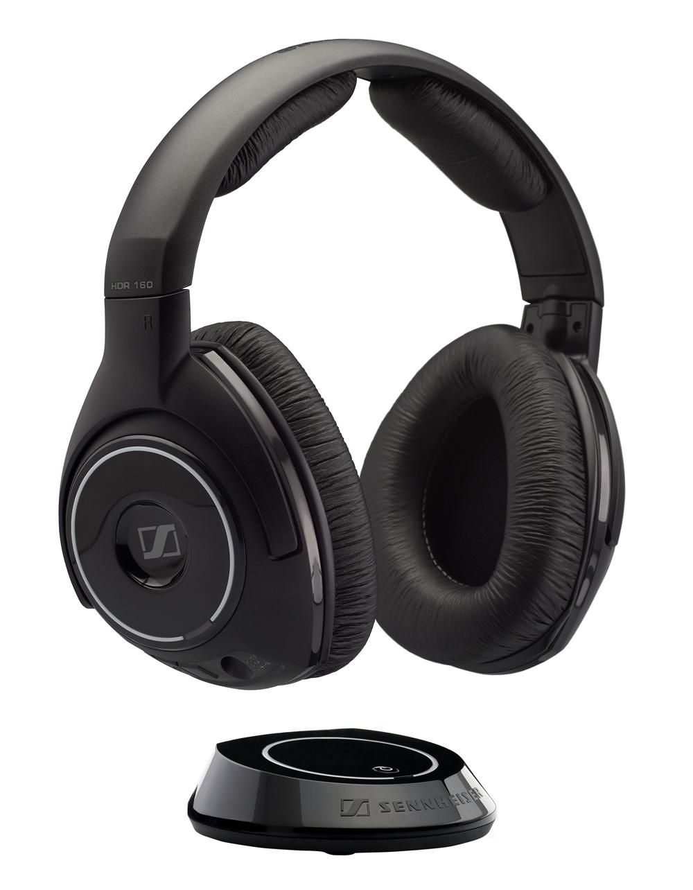 sennheiser rs 160 wireless audio headphones digital stereo bass driven sound ideal for. Black Bedroom Furniture Sets. Home Design Ideas
