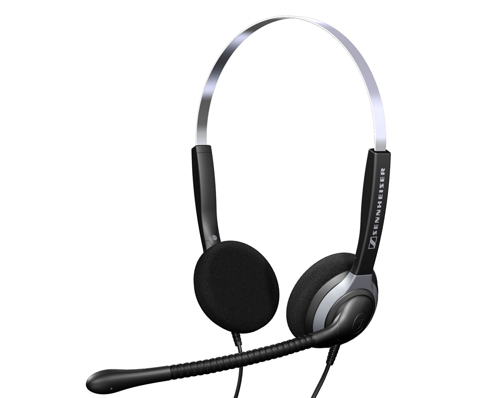 Sennheiser SH 350 Binaural Noise Canceling Mic Headset Quick Disconnect