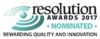 Resolution Awards 2017 Nominated award logo