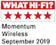 What Hi-Fi? Momentum Wireless September 2019 award logo