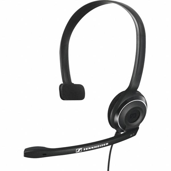 Sennheiser Pc 7 Usb - Micro-casque mono-oreillette USB, idéal pour les sessions chat