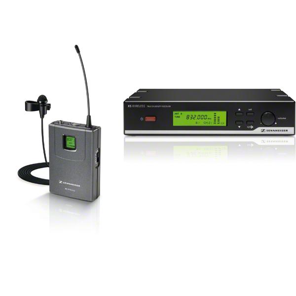 sennheiser xsw 12 wireless presentation set lavalier clip on microphone system for. Black Bedroom Furniture Sets. Home Design Ideas