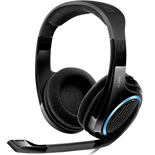 sennheiser u 320 gaming headset ps4 xbox one ps3 xbox 360 pc mac headset superb. Black Bedroom Furniture Sets. Home Design Ideas