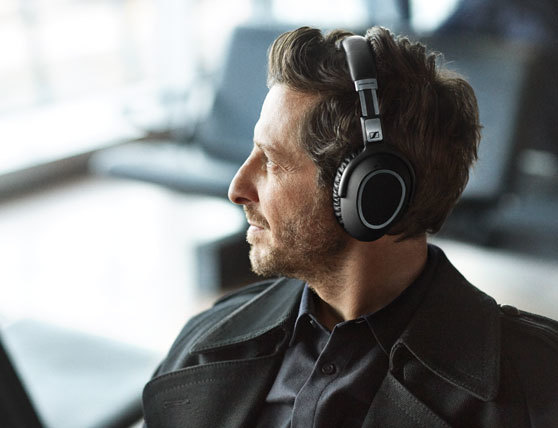 fb7e15a2fbe Enjoy your own audio lounge. Experience Sennheiser's renowned sound  signature in a high-performance travel headset.